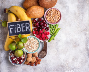 Products rich in fiber.